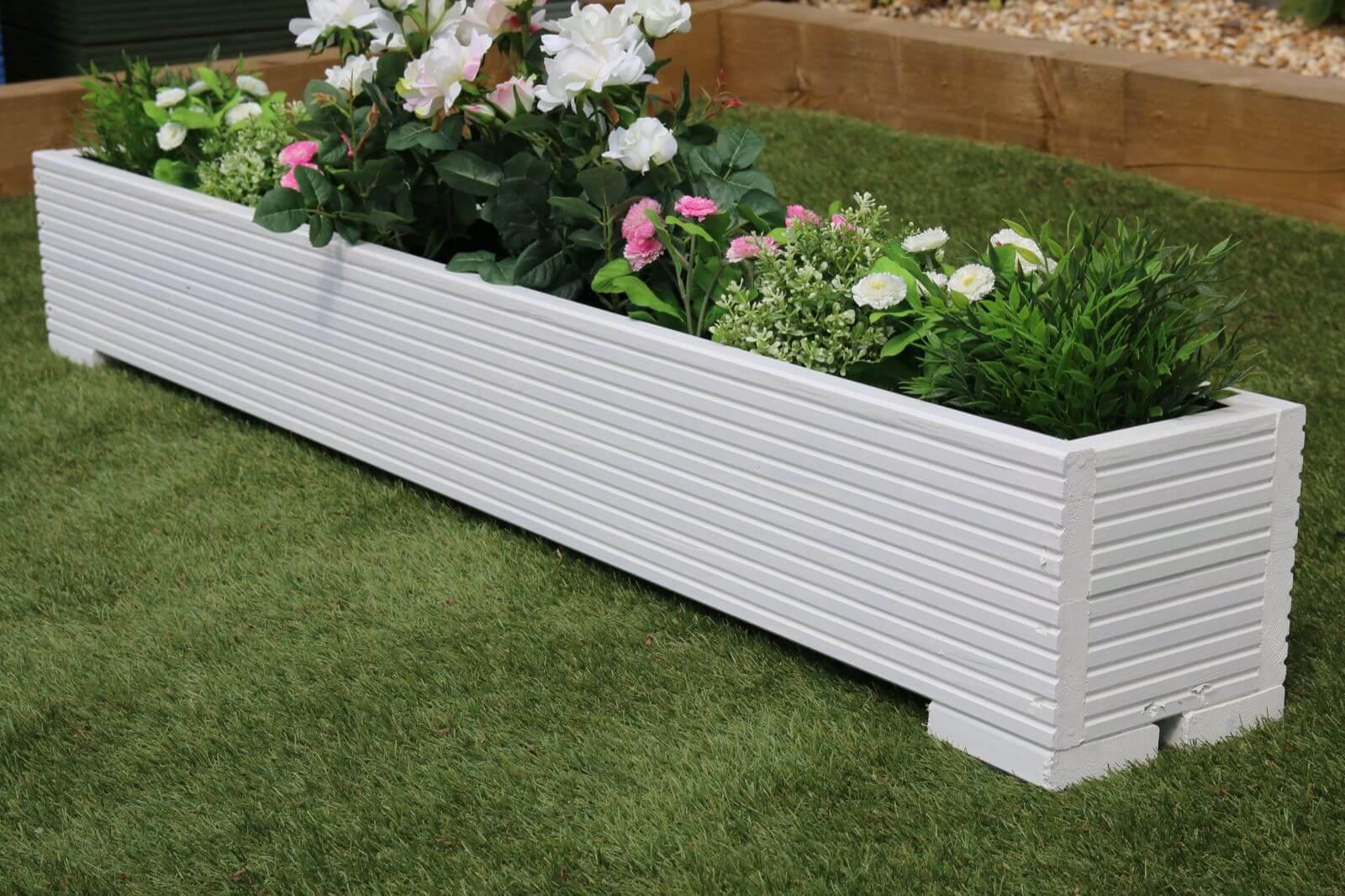 jardineras blancas baratas