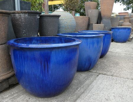 maceteros grandes azules comprar