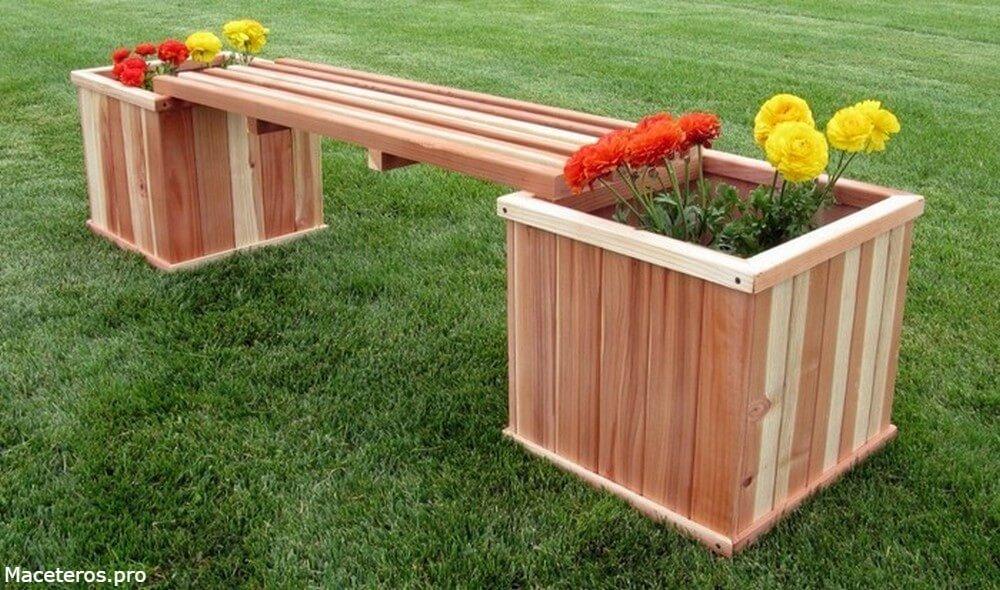 como hacer maceteros con bancos de madera